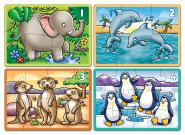 "Orchard Toys ""Animals 4 Four in a Box Zootiere Puzzle"""