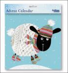 Nostalgischer Adventskalender 'Winter Schaf' mit Umschlag