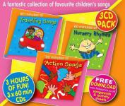 "3CD-Set + Texte: ""Action Songs/Nursery Rhymes/Travelling Songs"" - englische Kinderlieder"