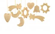 """""""Christmas -Weihnachten Holzanhänger zum Bemalen"""" (24 Stück)"""