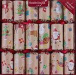 "6 Stück edle Christmas Crackers Kinder ""Finger Puppets/Fingerpuppen"" ca. 30cm"