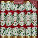 "6 Stück edle Crackers ""Merry Christmas / Fröhliche Weihnachten"" 30 cm Robin Reed"