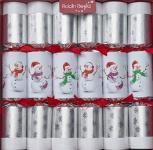 "6 Stück edle Christmas Crackers Kinder ""Racing Snowman"" ca. 33cm Weihnachtsdeko"