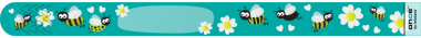 10 Stück Single Use Infoband Once Turquoise Bees - türkiese Bienen