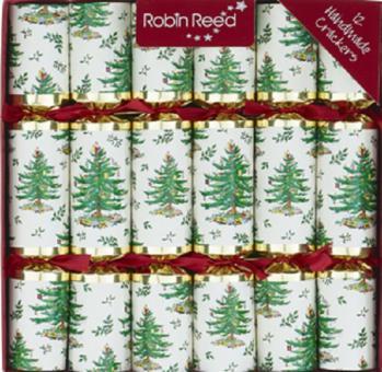 "12 Stück edle Christmas Crackers ""Tannenbaum / spode tree"" ca. 25cm Robin Reed"