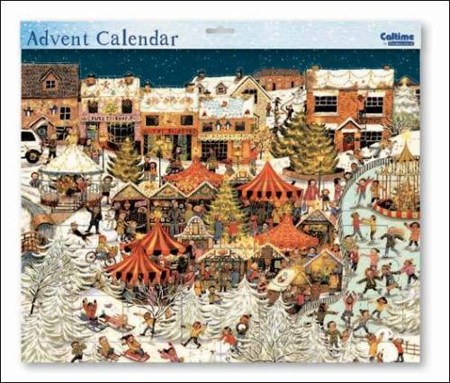 """Nostalgischer Adventskalender """"Winterlicher Weihnachtsmarkt"""" Caltime"""