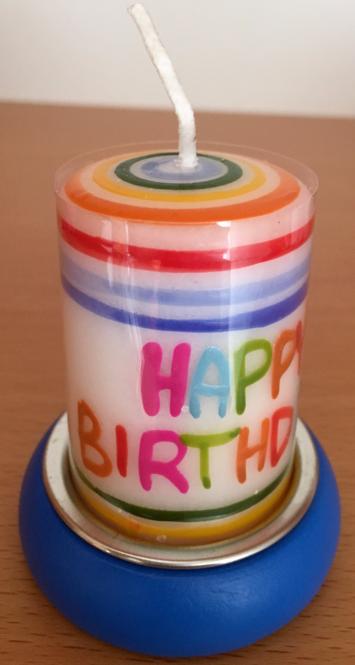 """Lichtergruß """"Happy Birthday"""" - blau"""
