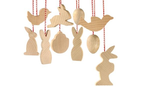 """""""Easter - Holzanhänger zum Bemalen"""" (12 Stück) Osteranhänger"""