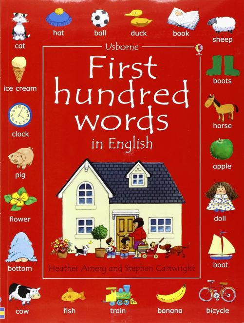 First 100 Hundred Words Book - Usborne (PB)