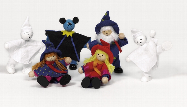 Halloween Biegepüppchen Gruselpüppchen 6 St. kleine Geister von Goki