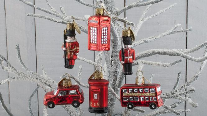 London Glasanhänger-Set (6Stück) Bus, Taxi, Telefonzelle - Brink Nordic